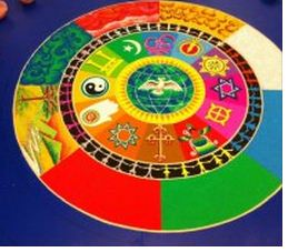 October 10 2012 DePaul Sand Mandala One World Religion all religions whats it going to be