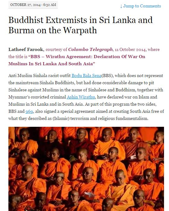 Buddhist Extremists in Sri Lanka