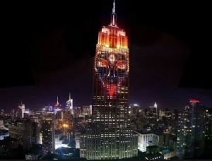 Kali Projected on Empire State Building in NYC.